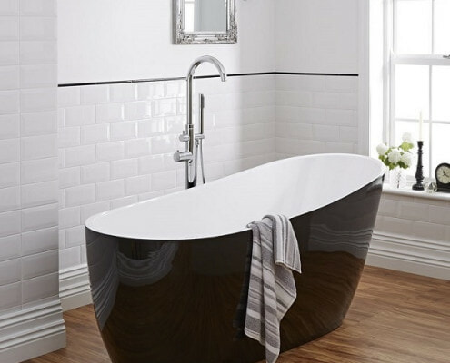 black modern bathtub