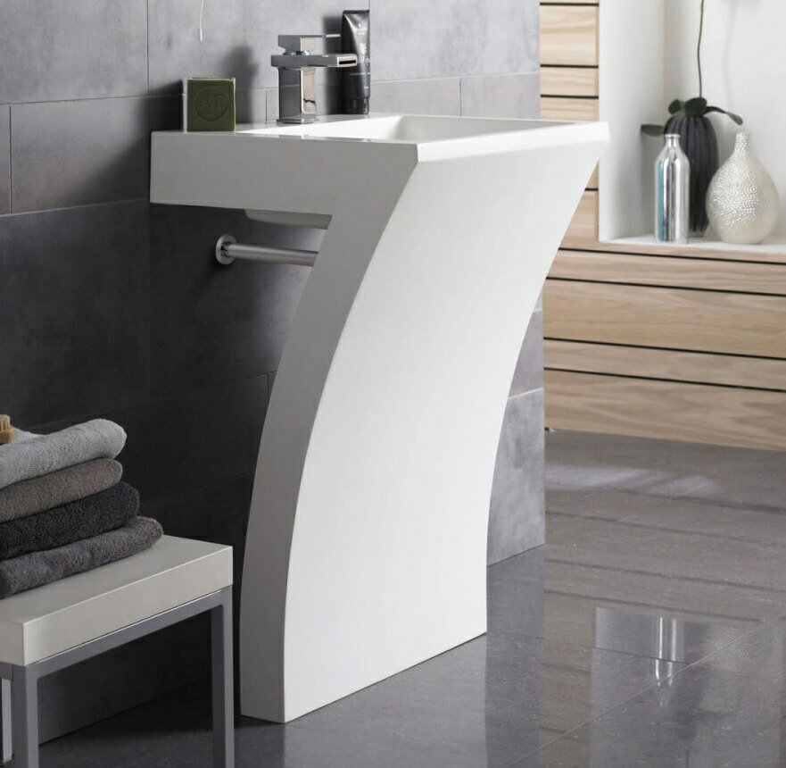 modern L sink