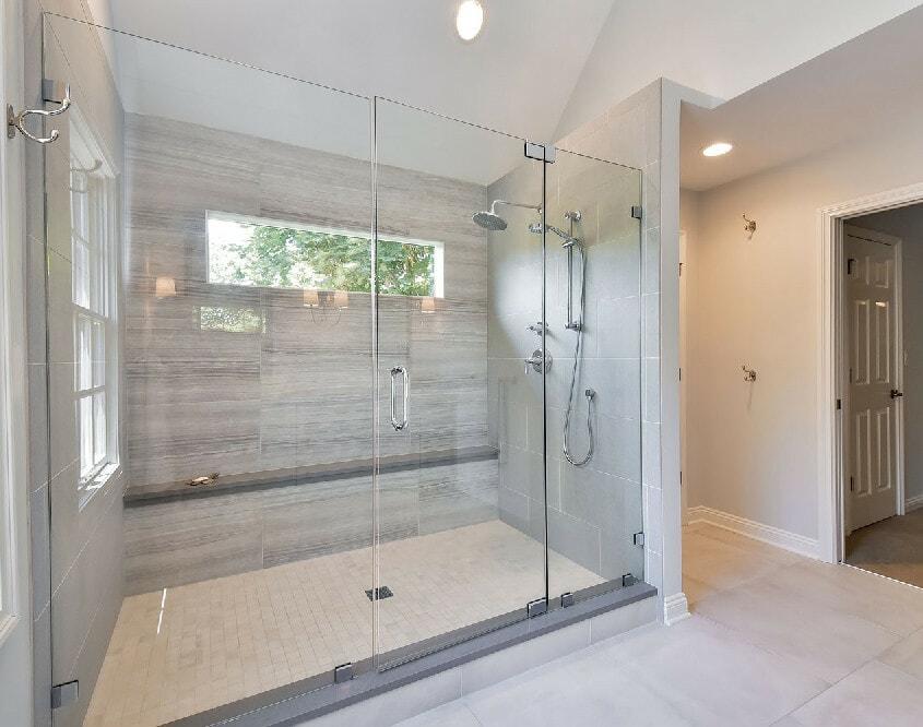 large shower enclosure