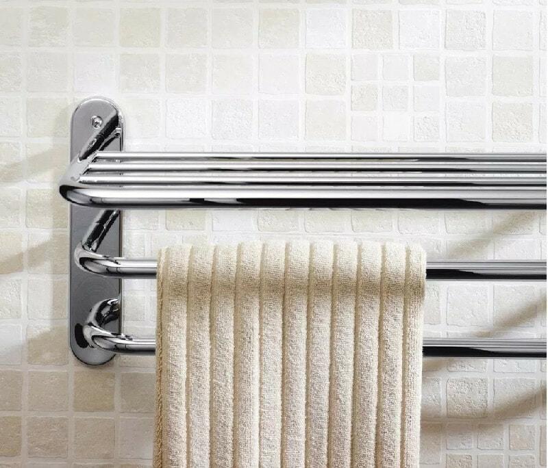 minimalist towel rack