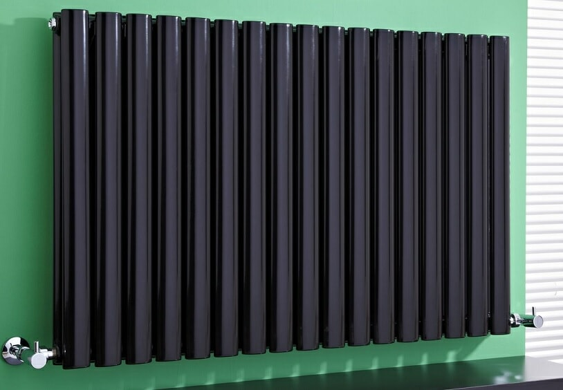 black horizontal designer radiator