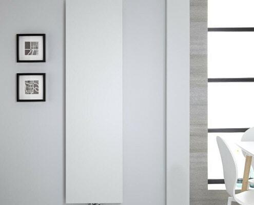 white modern block radiator