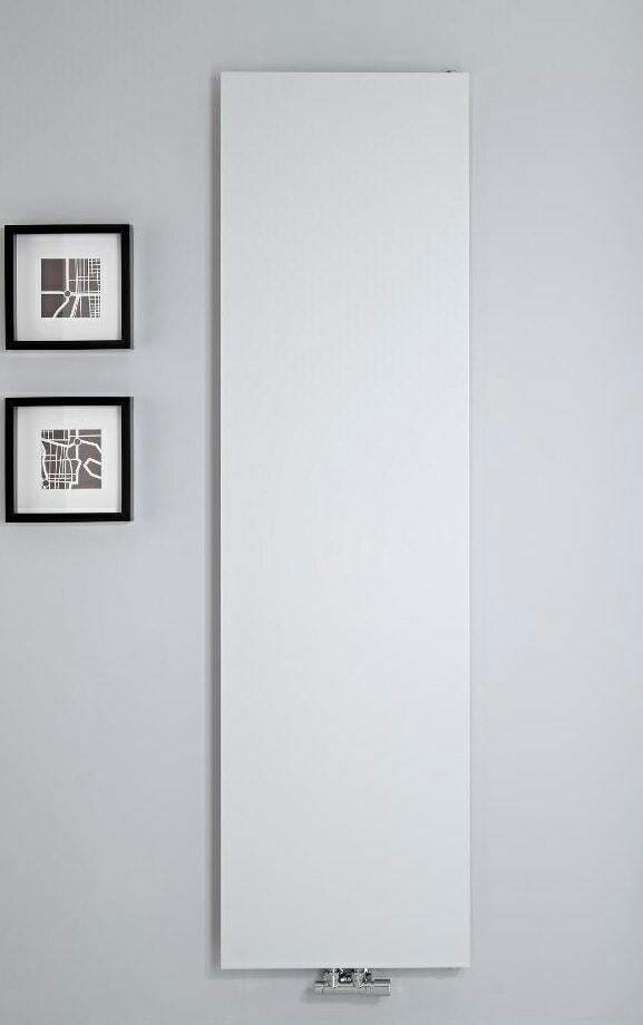 modern white vertical radiator