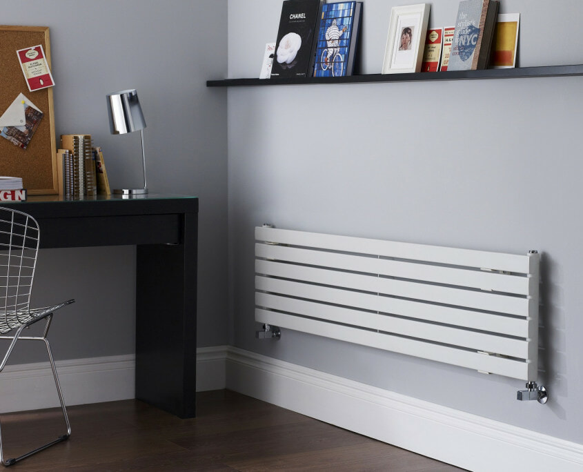 designer radiator in study