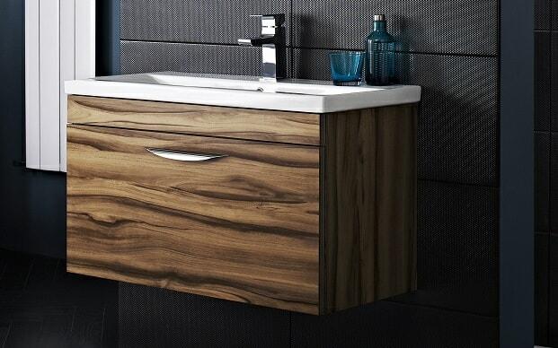 vanity unit oak