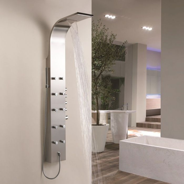 shower panel with body jets