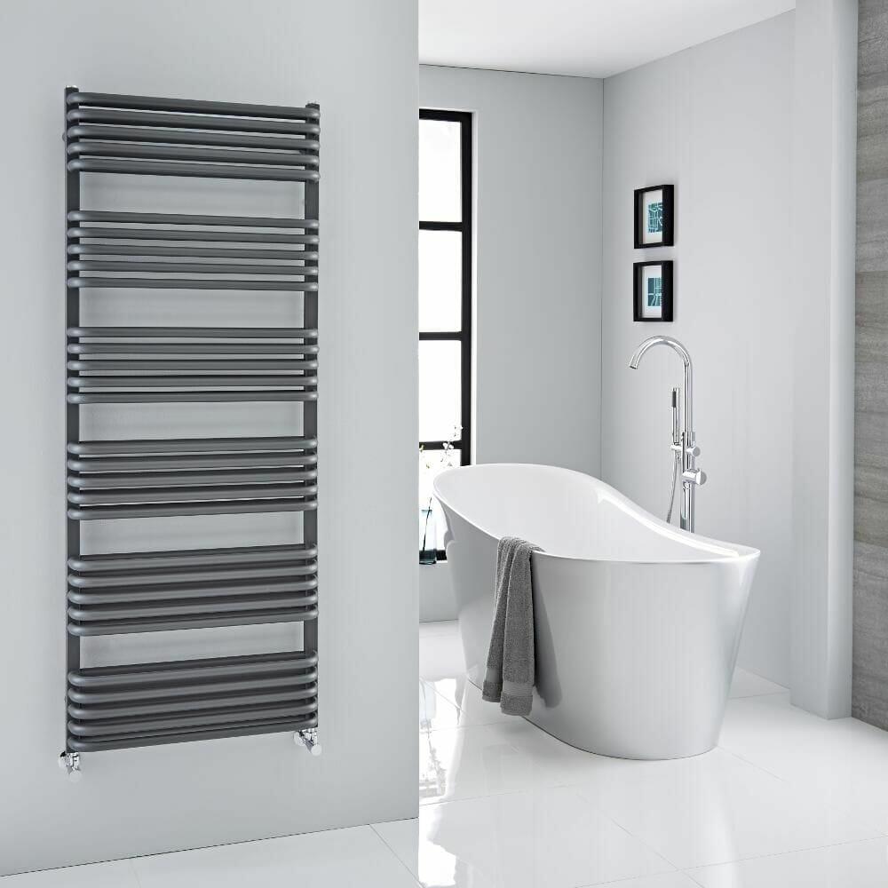 Heated Towel Rail Radiator Bathrooms Wall Mounted Flat Panel Ladder Anthracite R