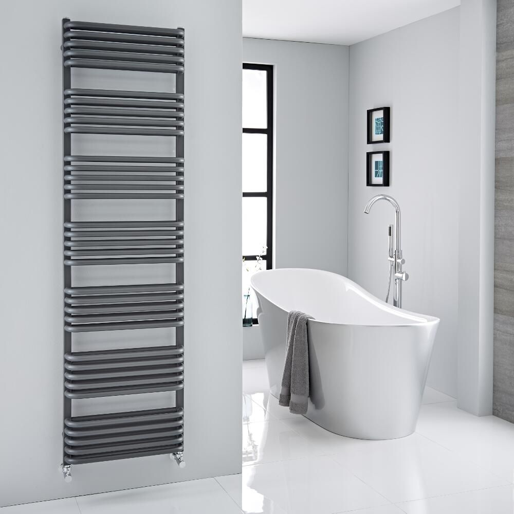 arch anthracite towel warmer