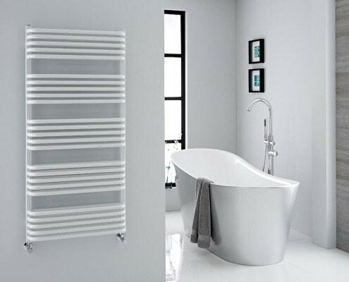 arch white towel warmer