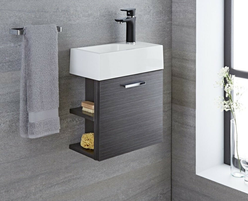 Langley gray wall mount vanity
