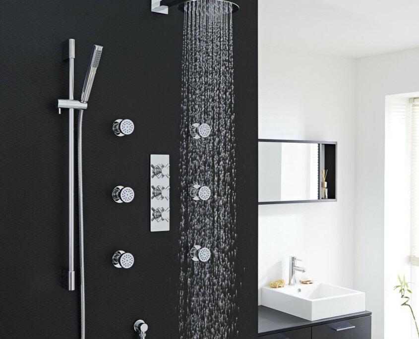 kristal thermostatic shower