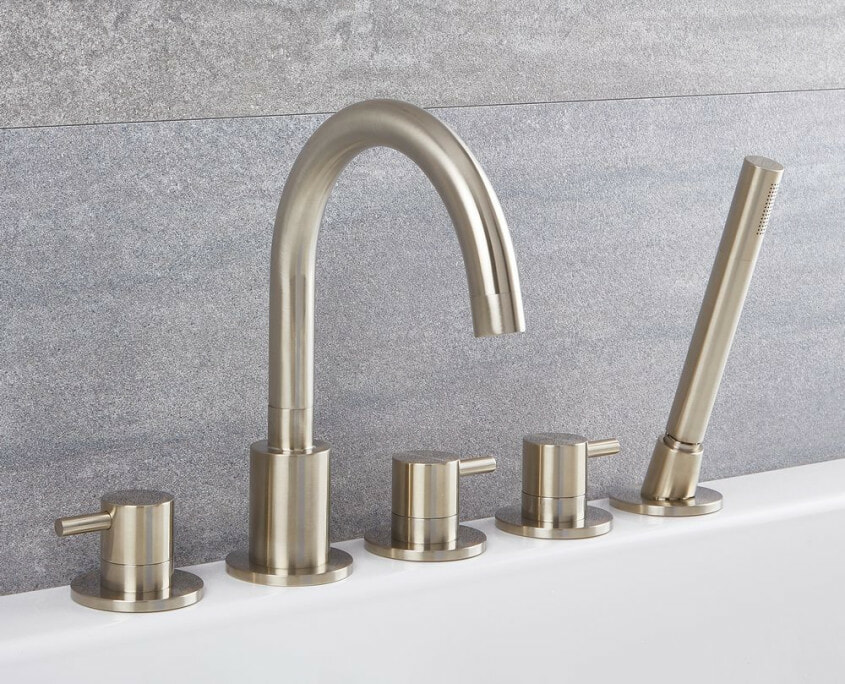 quest roman tub faucet with handshower