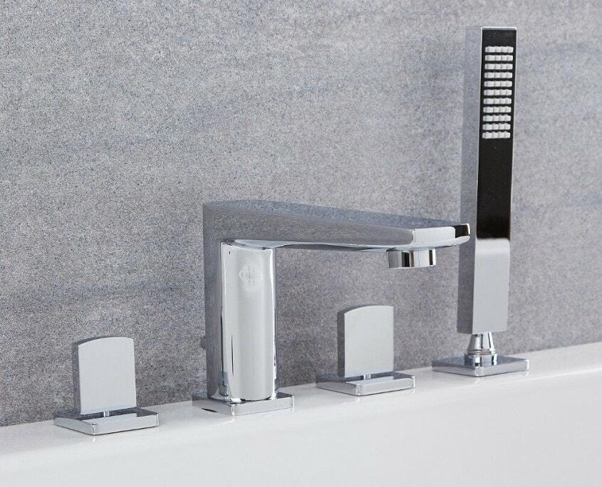 arcadia chrome roman tub faucet