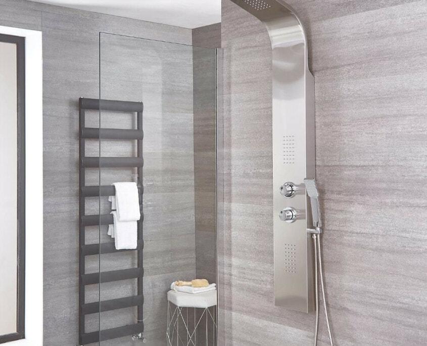 weston brushed nickel shower panel