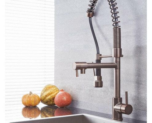 quest oil rubbed bronze kitchen faucet