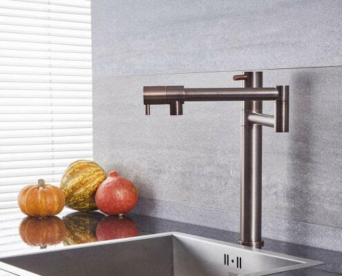 bronze retractable kitchen faucet
