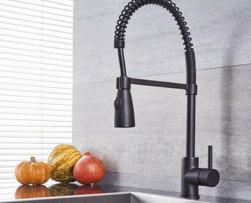 quest black kitchen faucet