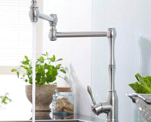 one hole retractable kitchen faucet