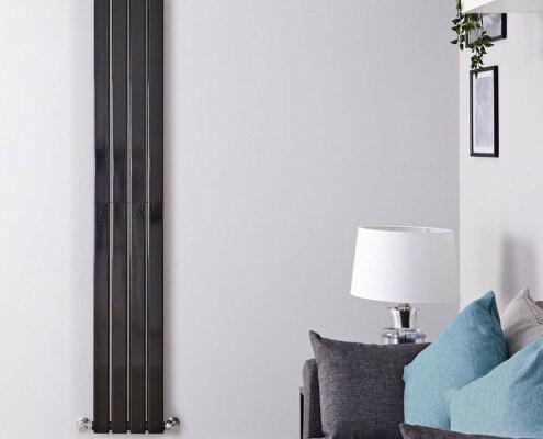 delta black vertical radiator