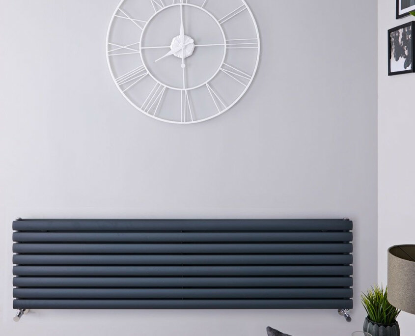 revive anthracite double panel radiator