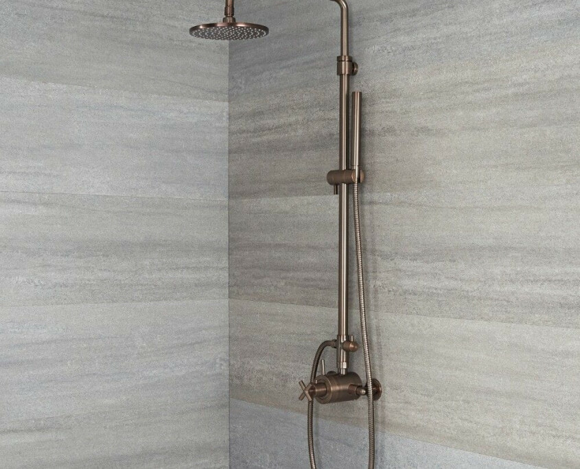 tec oil rubbed bronze exposed shower