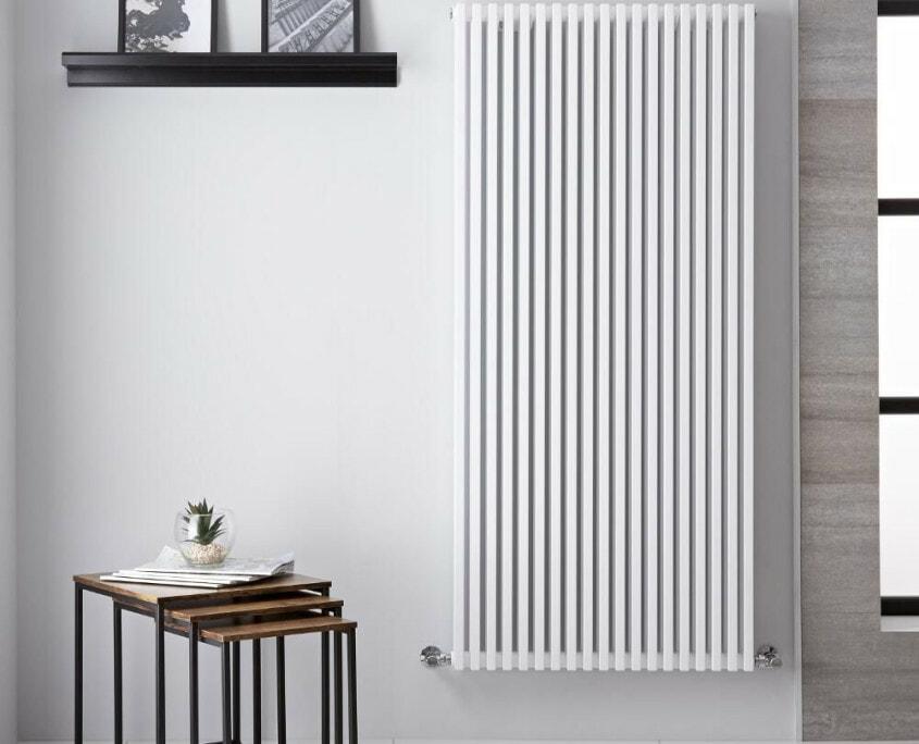 neive white vertical radiator