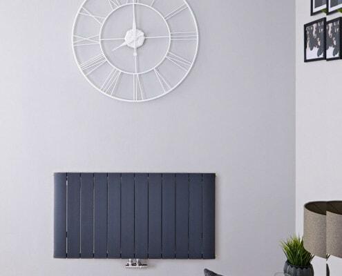 aurora anthracite horizontal radiator