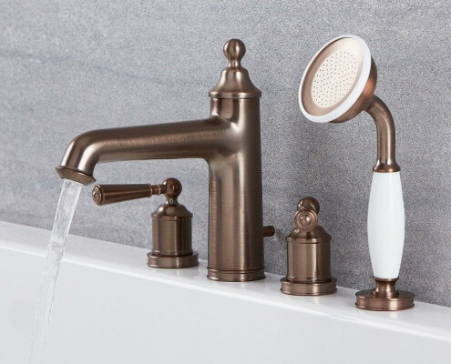 roman tub faucet and hand shower colworth