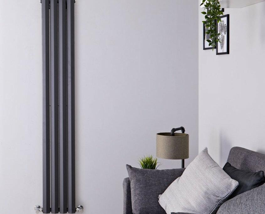 edifice anthracite vertical radiator
