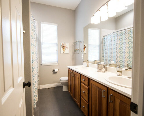 long bathroom layout