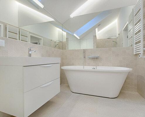 bathroom lighting large mirrors