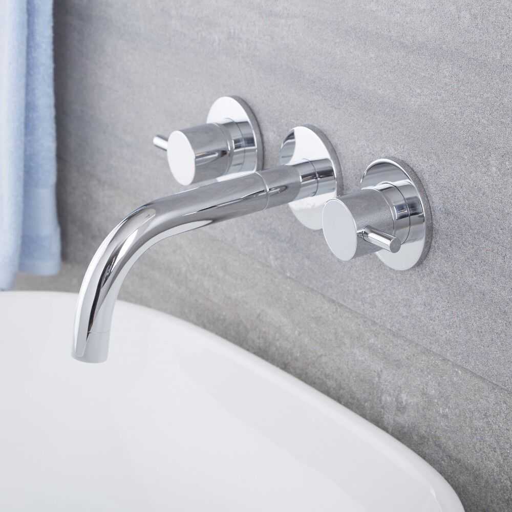 quest chrome wall mounted faucet