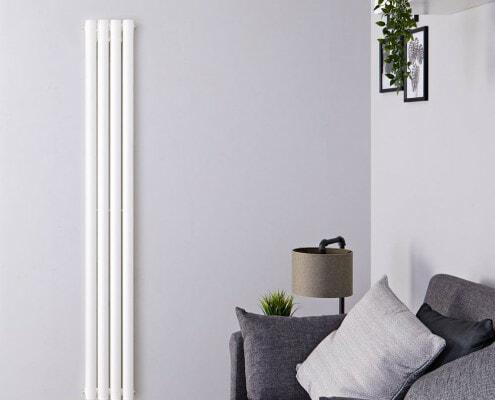revive white vertical double panel radiator
