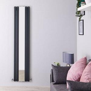 sloane anthracite vertical double panel radiator