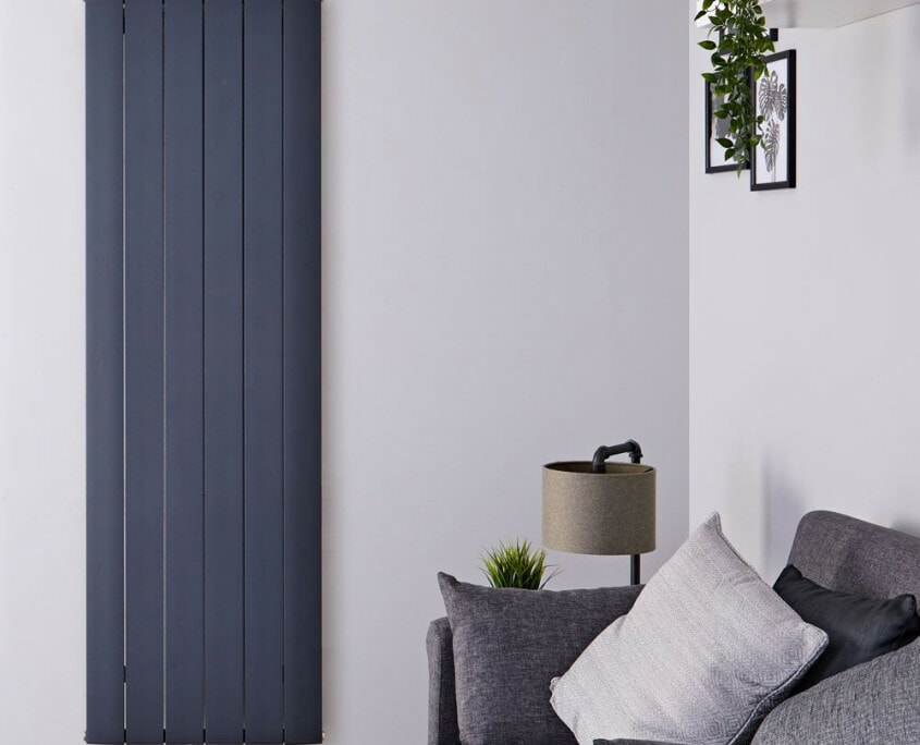 aurora vertical middle connection radiator