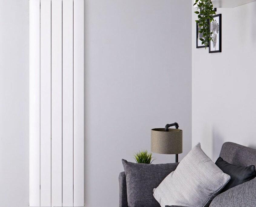 aurora white aluminum vertical radiator