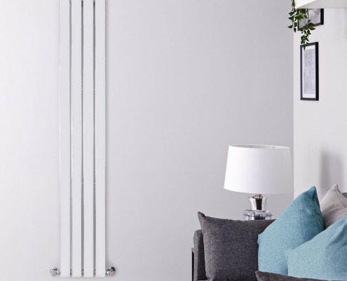 delta chrome vertical slimline radiator