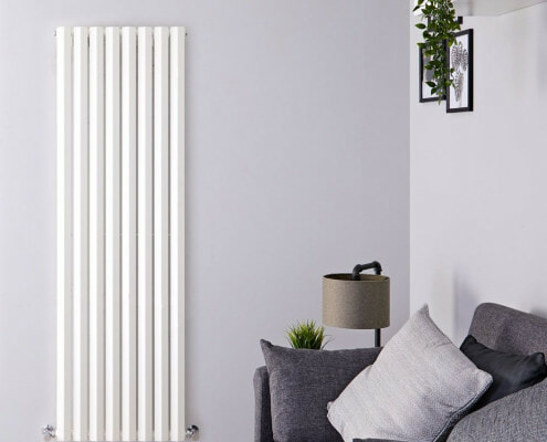 edifice white vertical designer radiator