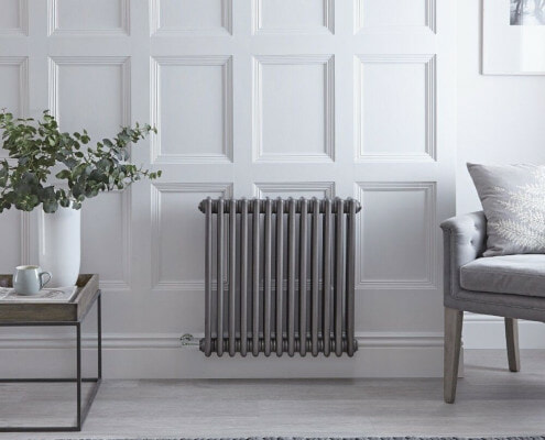 regent electric raw metal horizontal radiator