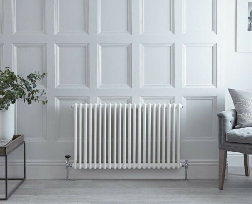 regent white horizontal radiator