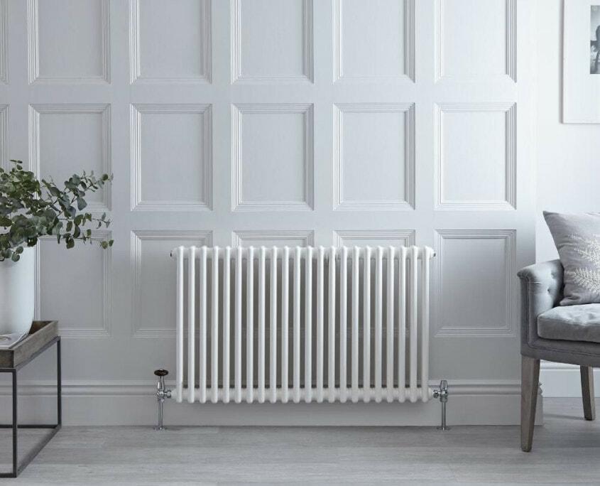 regent white horizontal radiator
