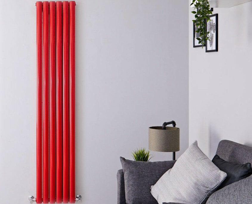 revive red vertical radiator