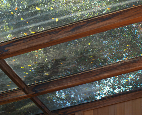 sun room glass roof