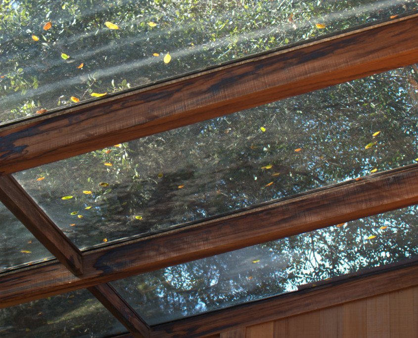 sun room glass roof