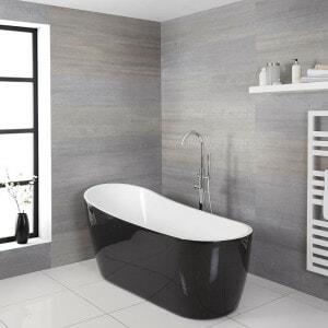 modern black bathtub