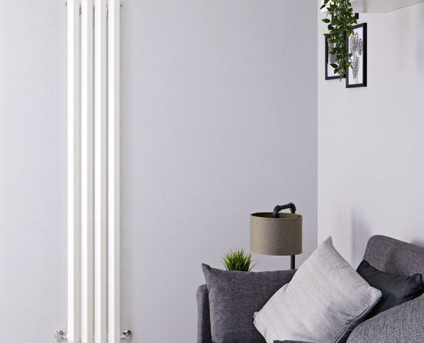 edifice white vertical single panel radiator