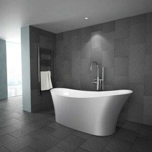 modern silver bathtub