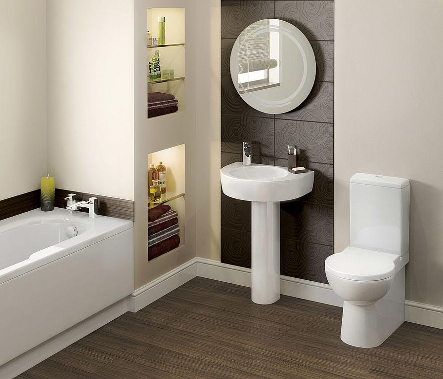 pedestal sink round mirror