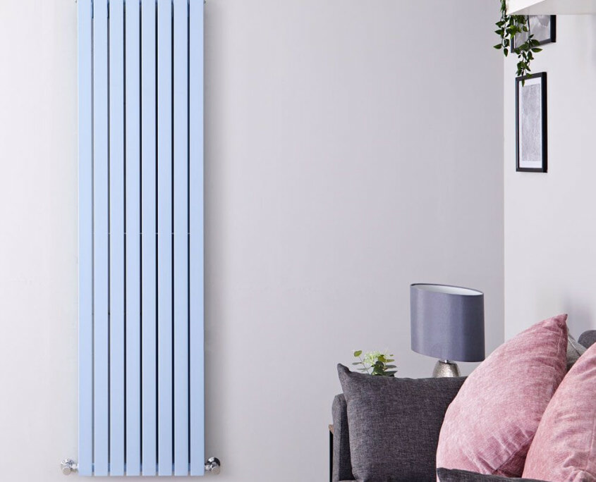 sloane baby blue vertical radiator